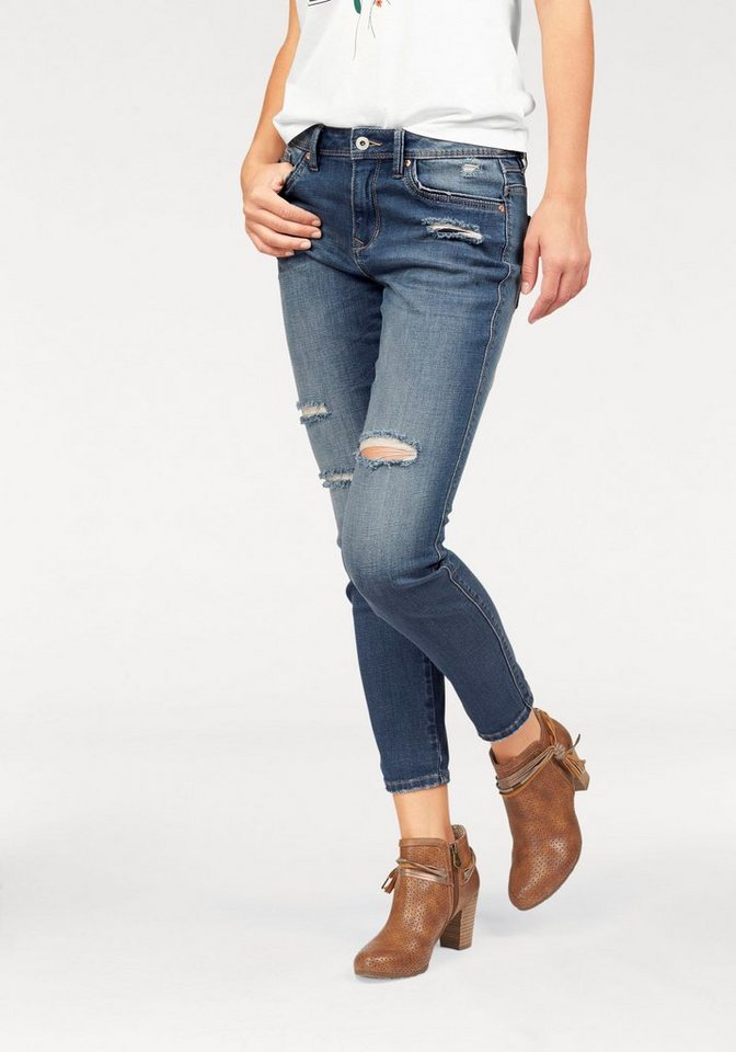 Tom Tailor Denim Destroyed-Jeans »Lynn« im Anti-Fit-Style in mid-stone-washed