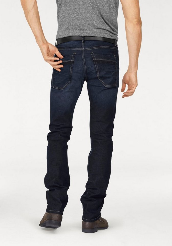 Bruno Banani Straight-Jeans »Liam (Stretch)« in darkblue-used