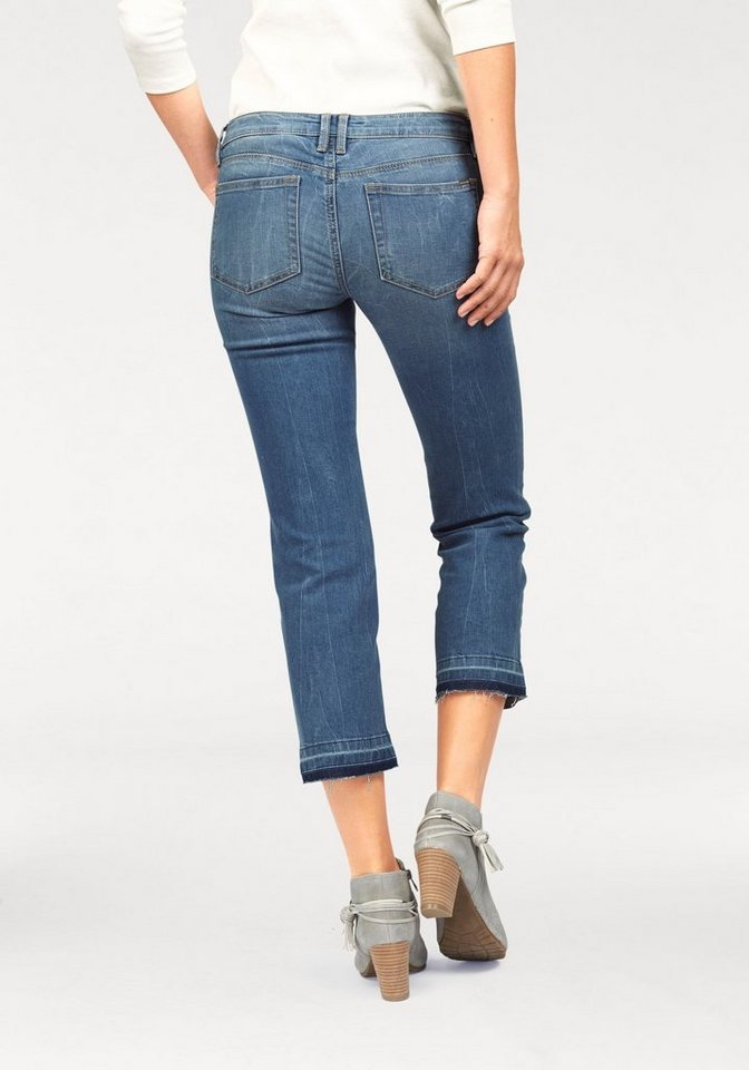 Tom Tailor Denim 7/8-Jeans »Stella« in Crinkle-Optik in light-stone-washed