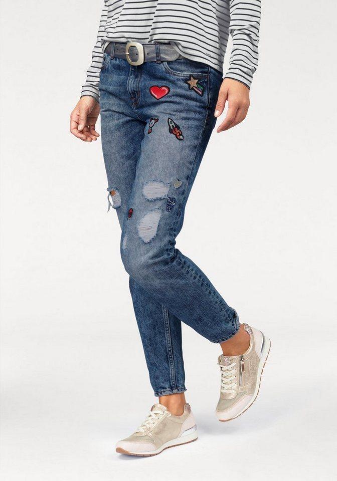 Tom Tailor Denim 5-Pocket-Jeans mit angesagten Patches in mid-blue