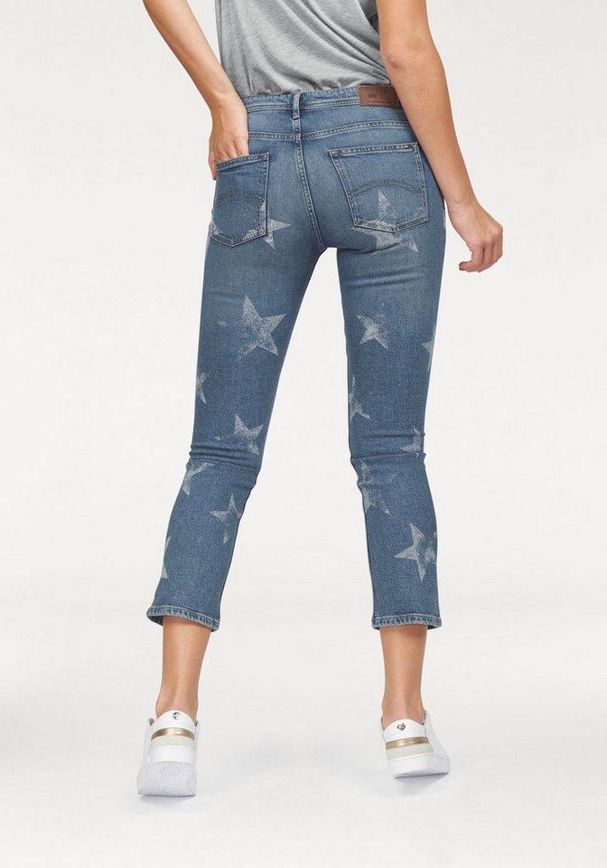 Hilfiger Denim Straight-Jeans »Lana« im modischen Cropped-Style in blue-weiß