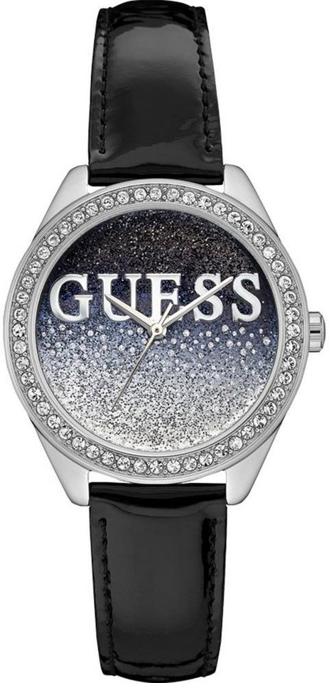 Guess Quarzuhr »W0823L2« in schwarz