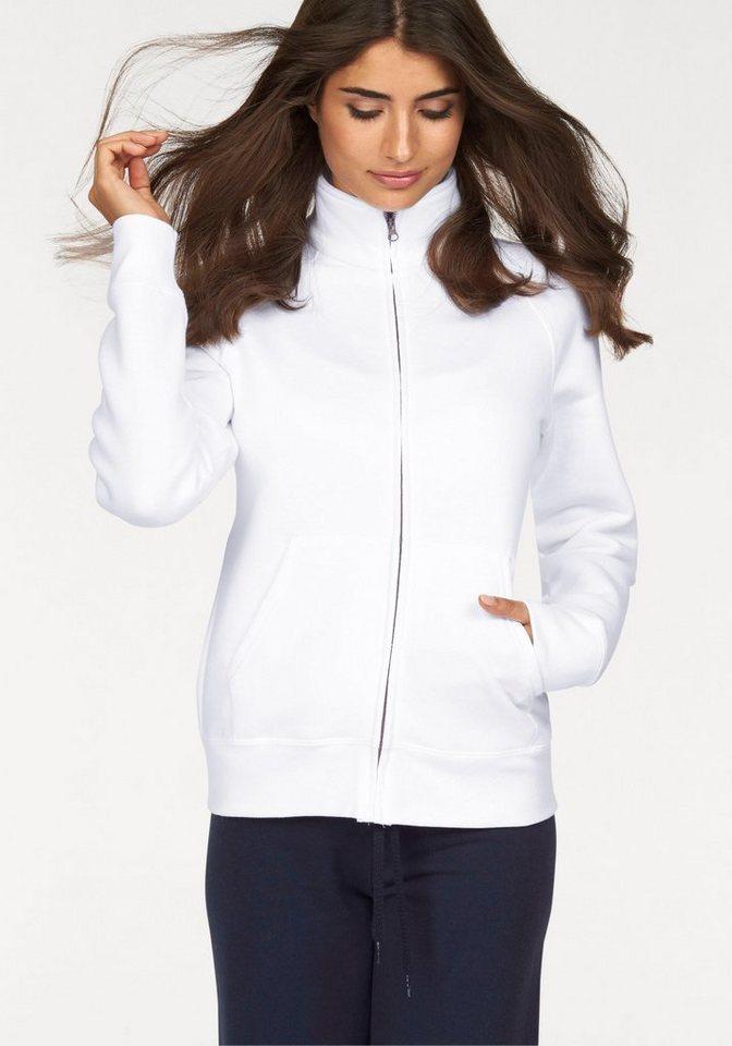 Fruit of the Loom Sweatshirt »Lady-Fit Premium Sweat Jacket« in weiß