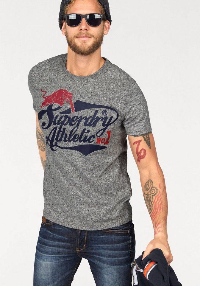 Superdry T-Shirt »ATHLETIC 1 TEE« in grau-meliert