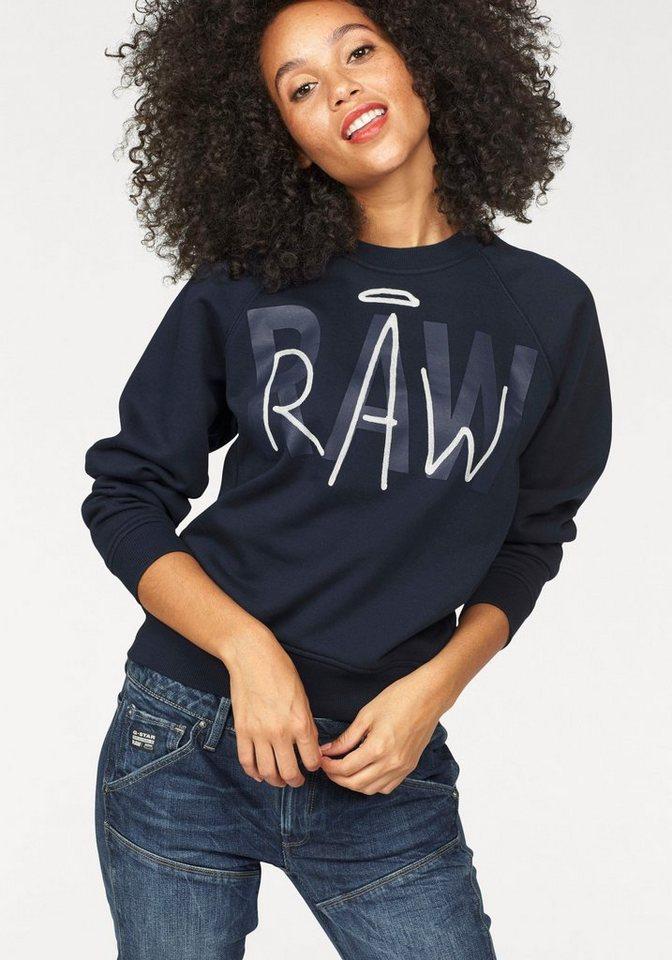 G-Star Sweatshirt »Chias« mit Front-Print und Kontrastnähten in dunkelblau