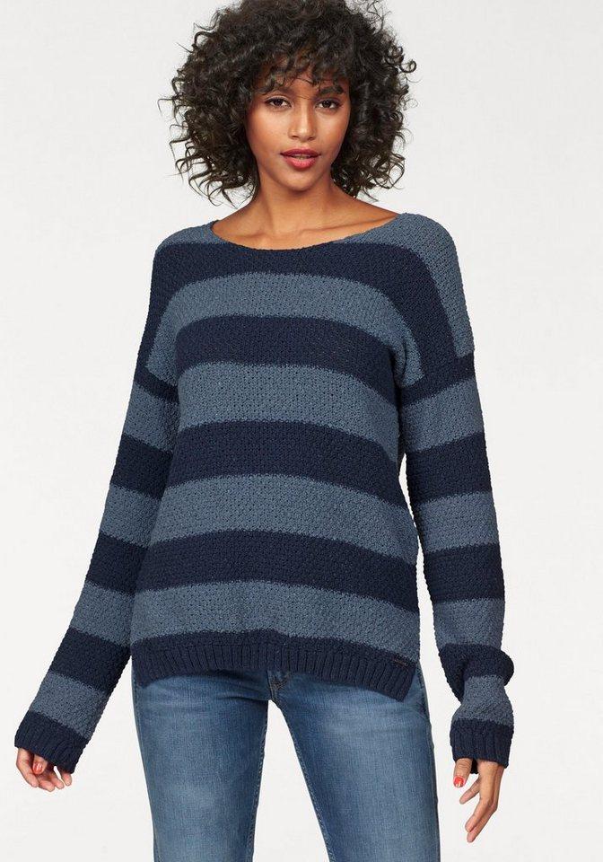 Pepe Jeans Streifenpullover »Foxy« im Ringellook in blau-gestreift