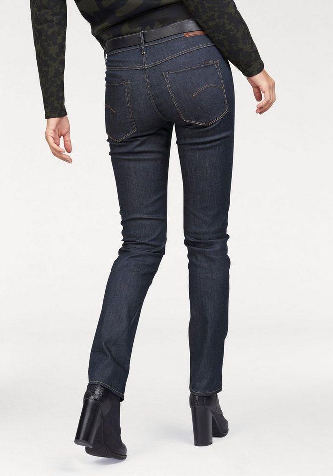 G-Star High-waist-Jeans mit umgeschlagenem Beinsaum in raw-denim