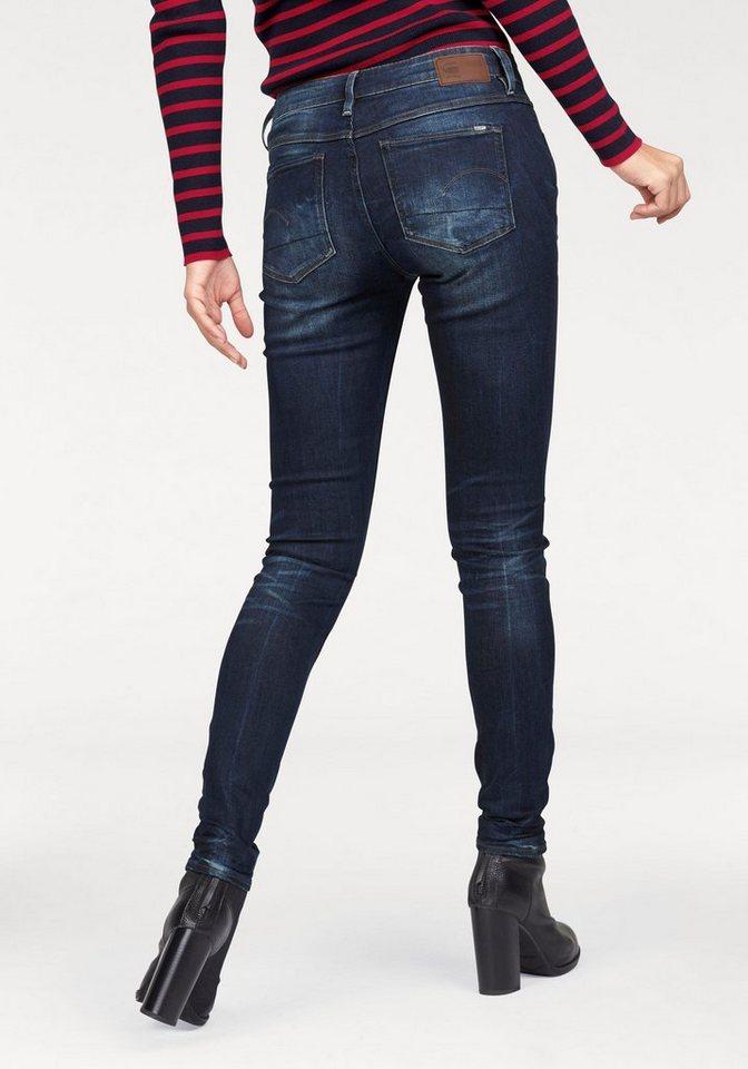 G-Star Skinny-fit-Jeans mit Waschung am Saum in dark-aged