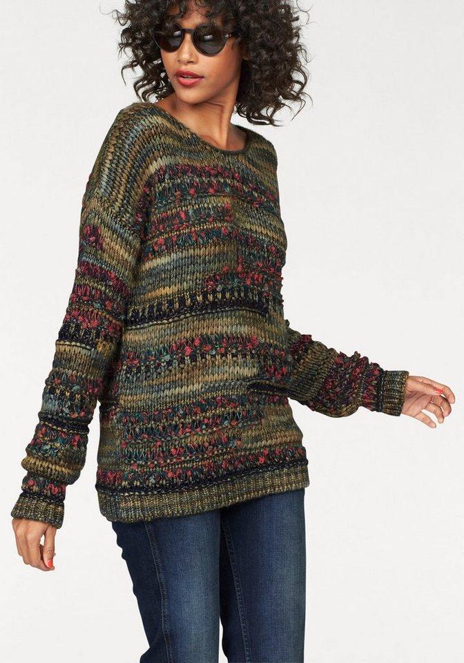 Pepe Jeans Strickpullover »Monica« im modischen Grobstrick in bunt-gemustert