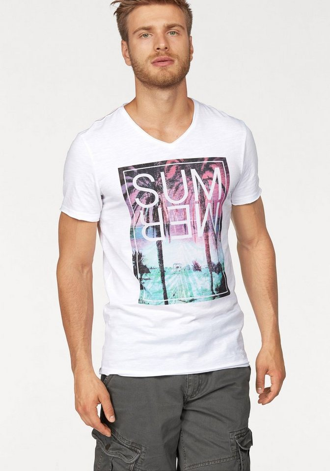 John Devin T-Shirt in weiß