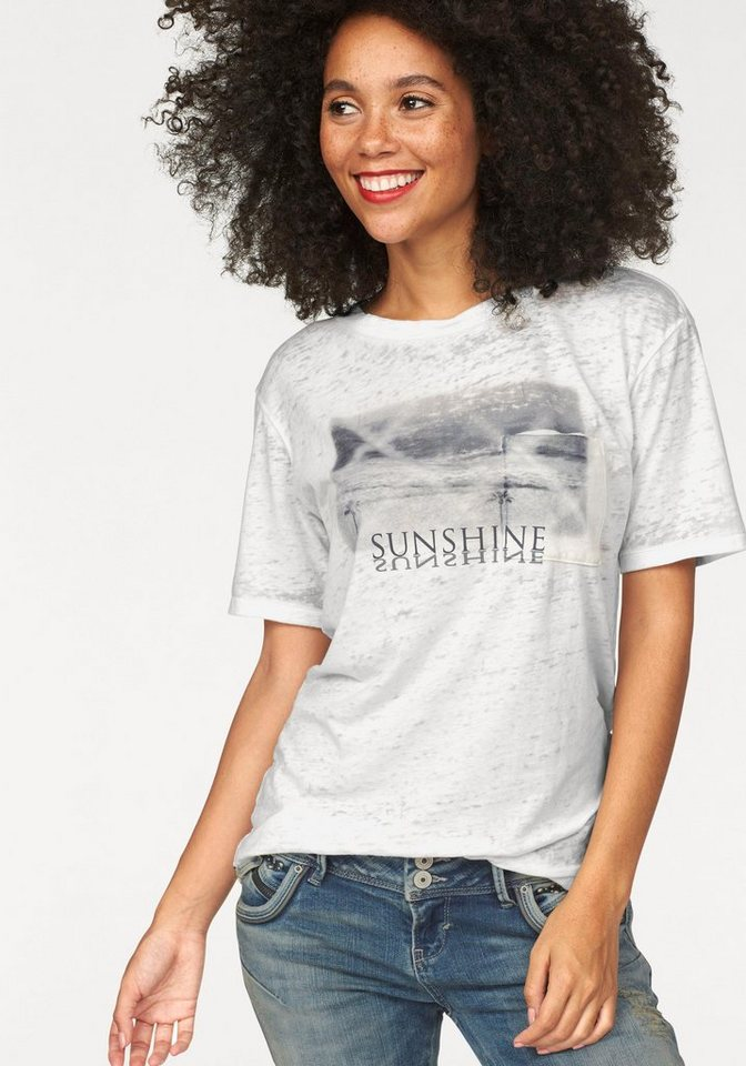 LTB T-Shirt »Lasiya« in weiß