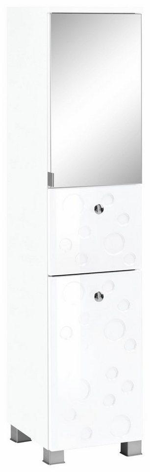 Held Möbel Midischrank »Bubble« in weiß/weiß Hochglanz