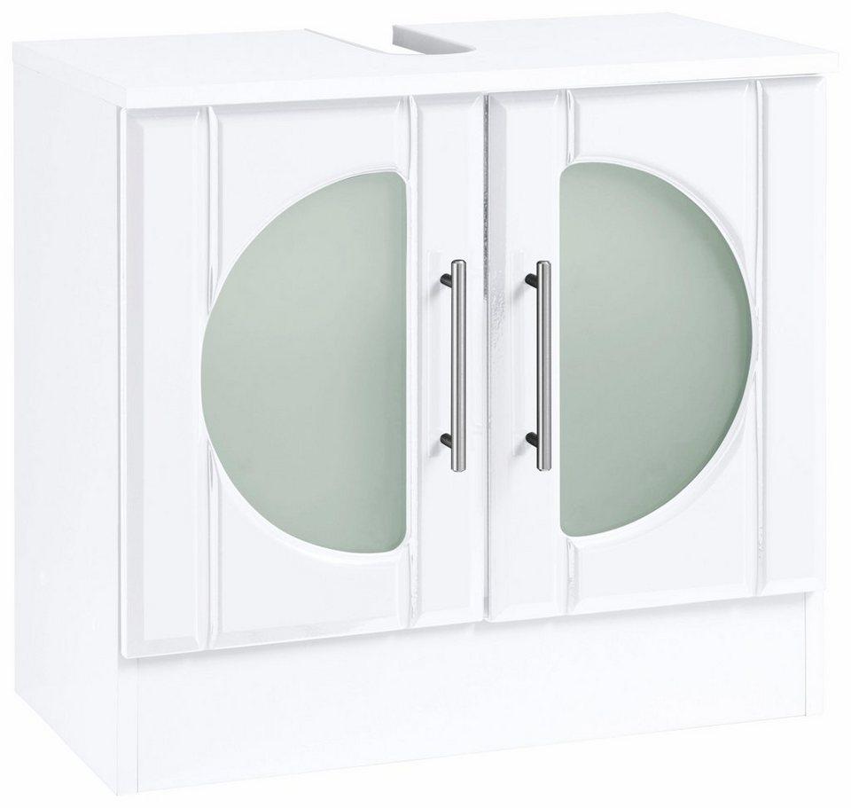 Held Möbel Waschbeckenunterschrank »Luna« in weiß Hochglanz