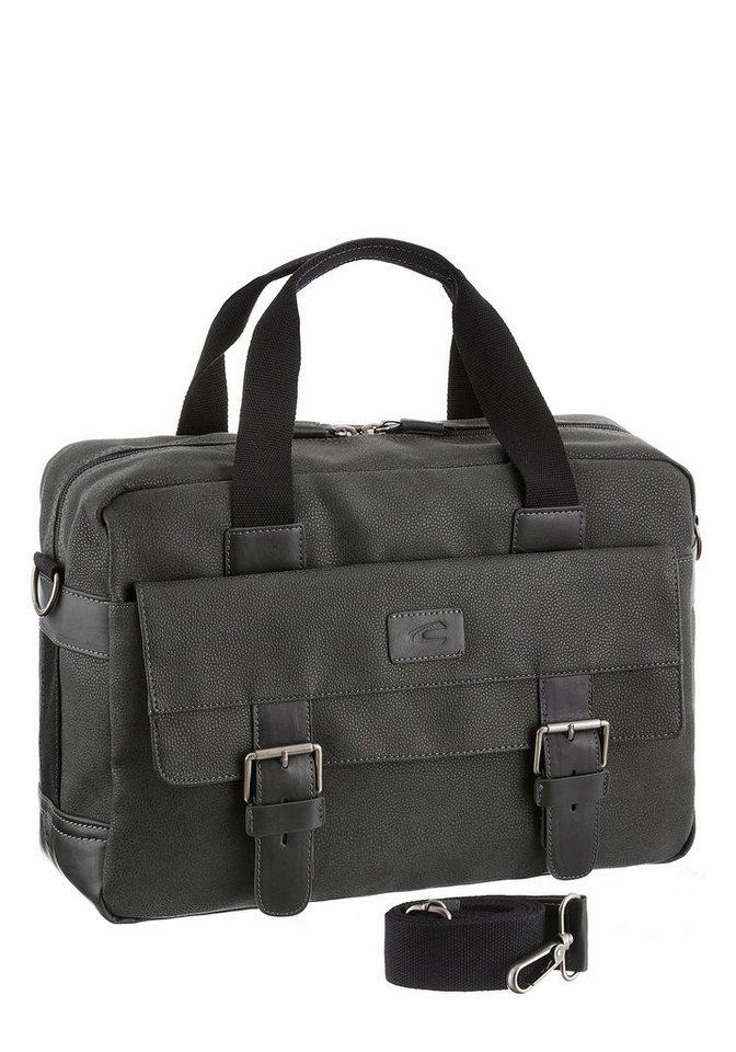 camel active Messenger Bag »Aligier« mit Laptopfach in grau