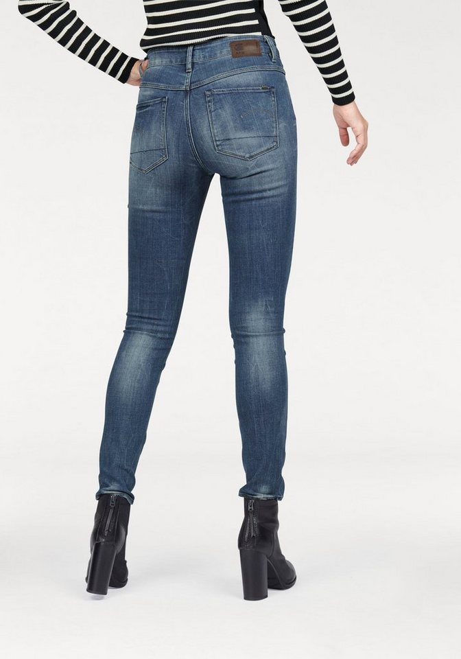 G-Star High-waist-Jeans »Ultra High« in leichter Crinkle-Optik in medium-aged