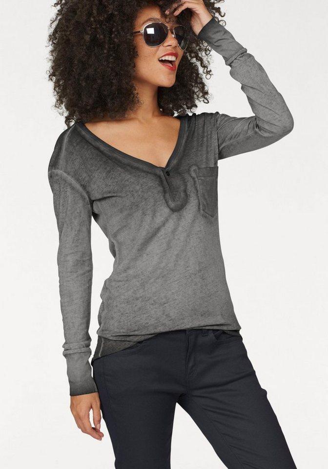 G-Star Langarmshirt »Hika« im Vintage-Look in grey