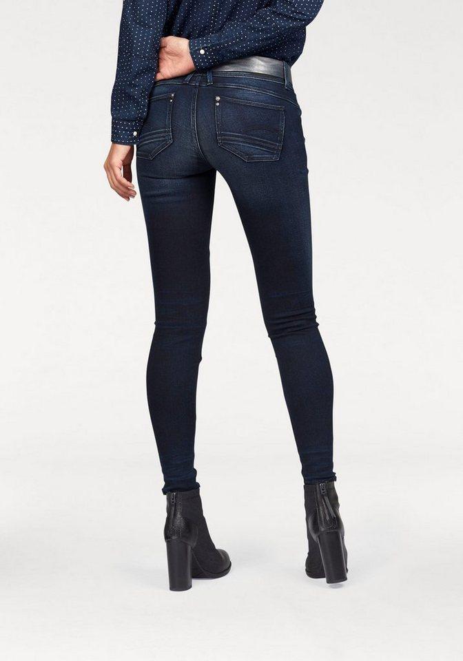 G-Star Skinny-fit-Jeans »Lynn Ast« mit Reißverschluss am Saum in dark-aged-black