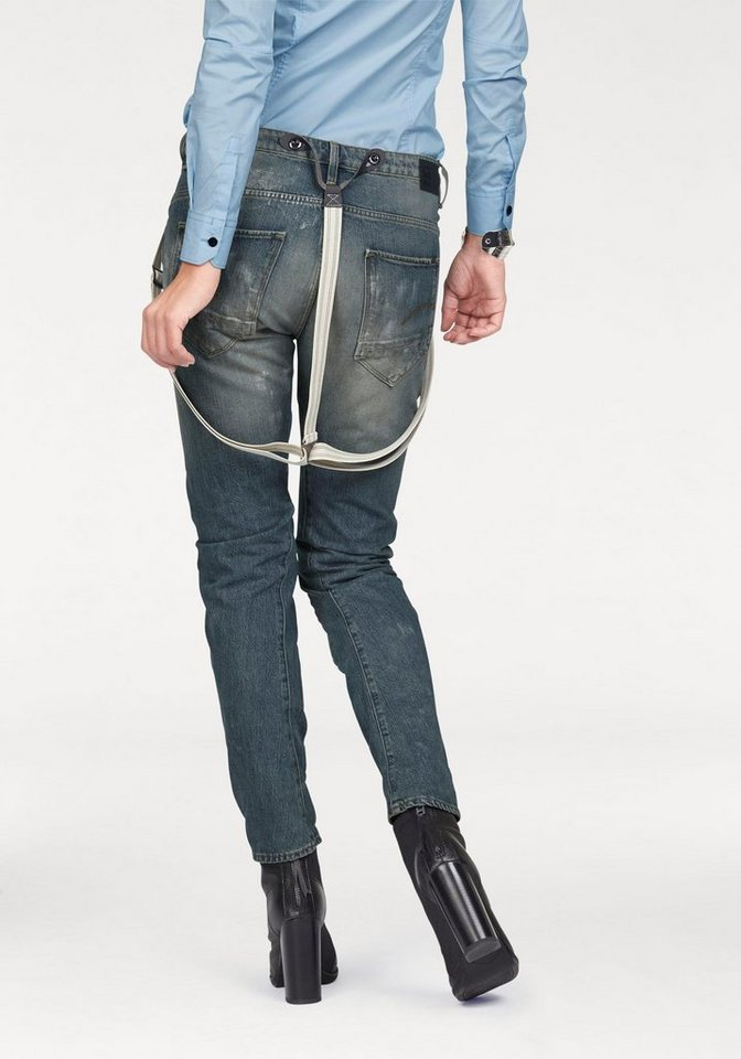 G-Star Boyfriend-Jeans »Arc Braces 3D« im coolen Vintage-Look (Set, 1 tlg., mit Hosenträgern) in medium-aged-restored