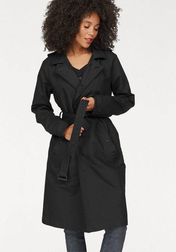 G-Star Trenchcoat »Florence« in fallender Longform (Set, 1 tlg., mit abnehmbarem Gürtel) in schwarz