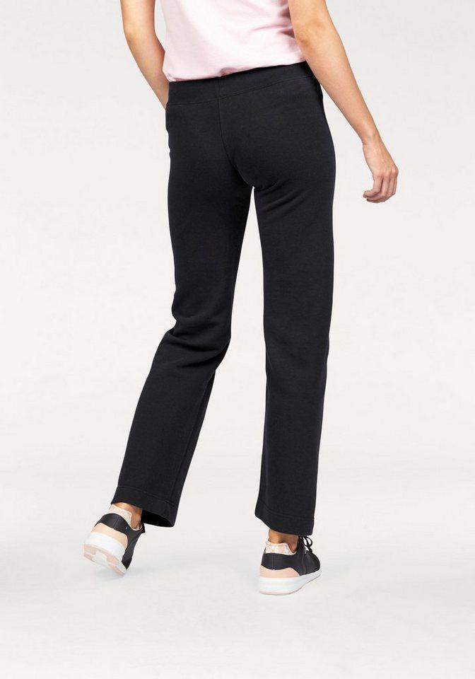 Fruit of the Loom Jogginghose »Lady-Fit Jog Pants mit offenem Beinabschluss« in schwarz