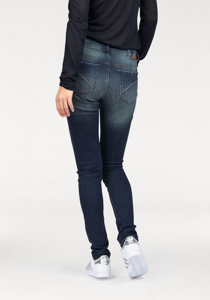Garcia Slim-fit-Jeans »Rachelle« mit Abriebeffekten an Säumen in dark-blue-used