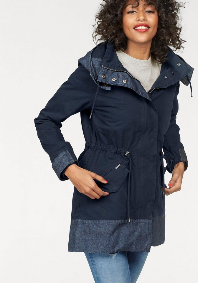 Pepe Jeans Parka »Perin« mit Jeans-Details in navy