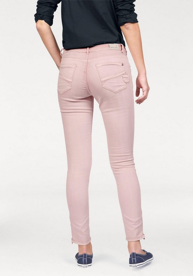 Garcia Slim-fit-Jeans »Rachelle« in Biker-Optik in rosé