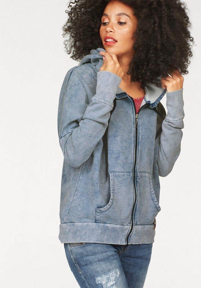 LTB Sweater »Geribo« in Vintage-Optik in blau-washed
