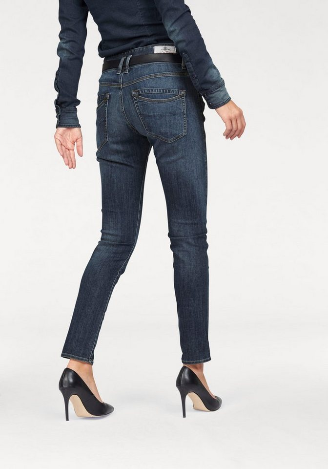 Herrlicher Boyfriend-Jeans »Rayaboy« mit Stretch-Anteil in medium-blue
