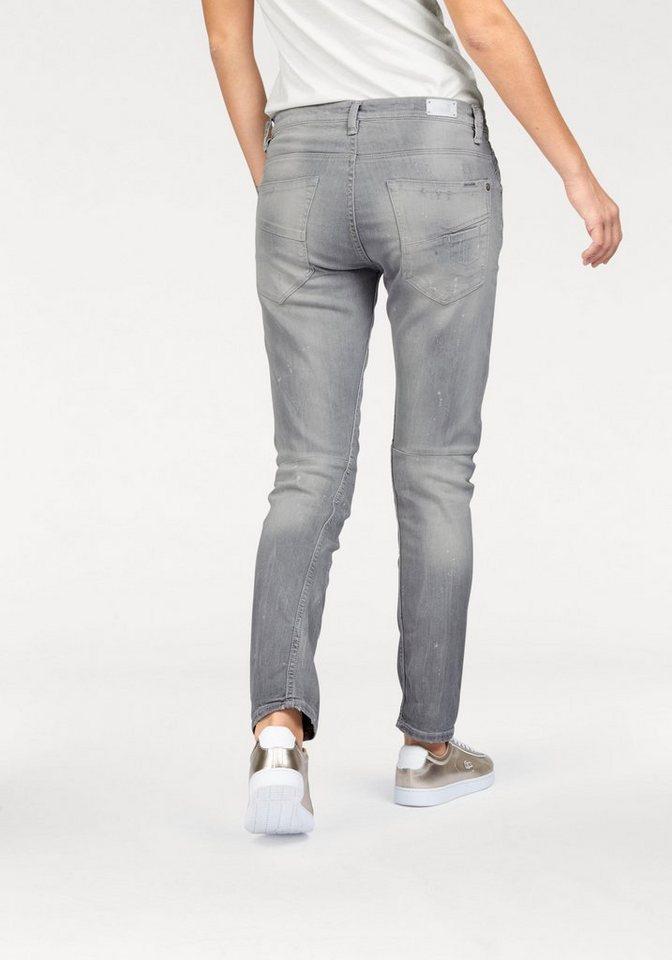 Garcia Boyfriend-Jeans »Luisa« mit Destroyed-Effekten in light-grey