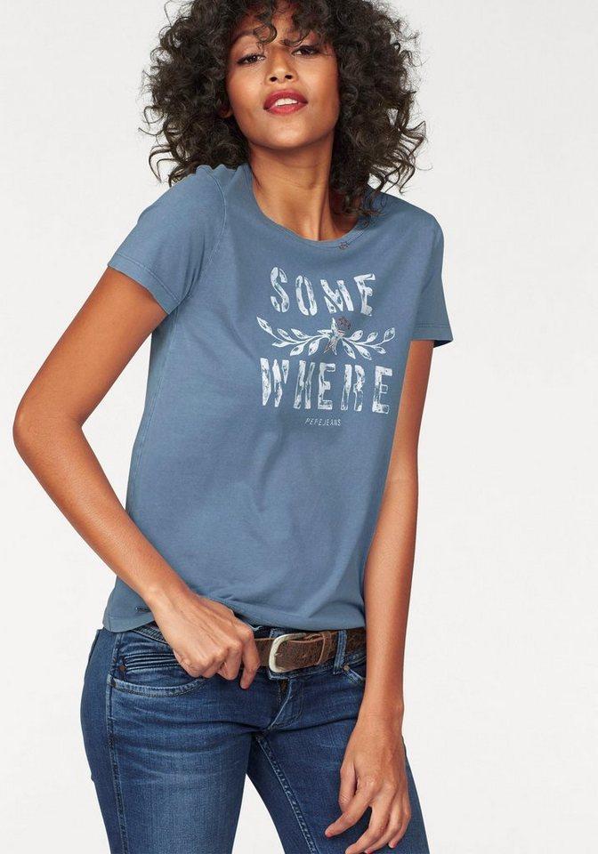Pepe Jeans T-Shirt »Molli« mit Front-Print in hellblau