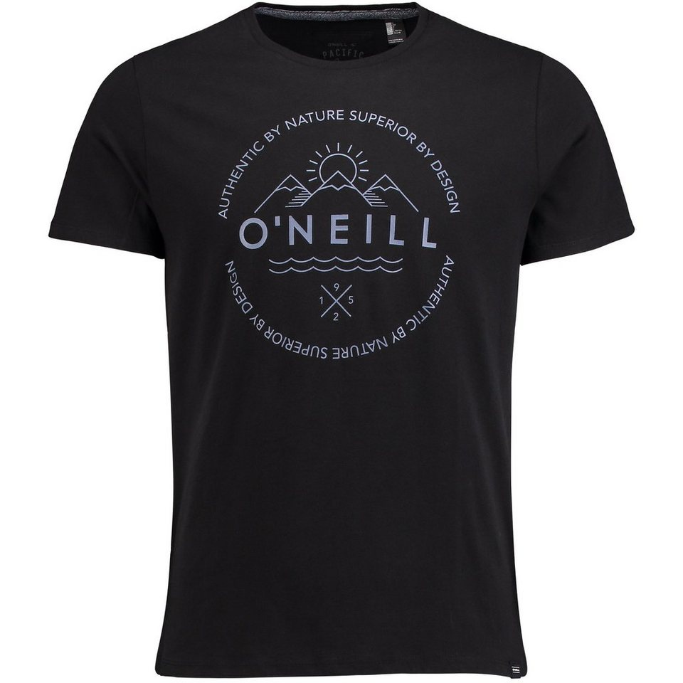 O'Neill T-Shirt kurzärmlig »Scripty« in Schwarz