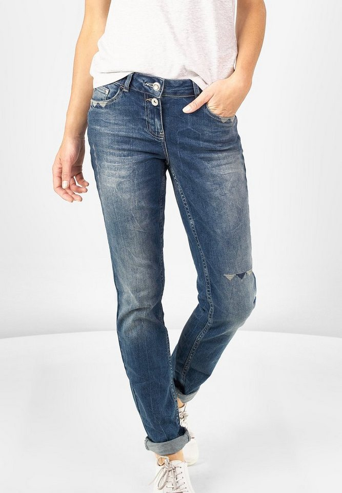 CECIL Loose Fit Denim Scarlett in authentic used wash