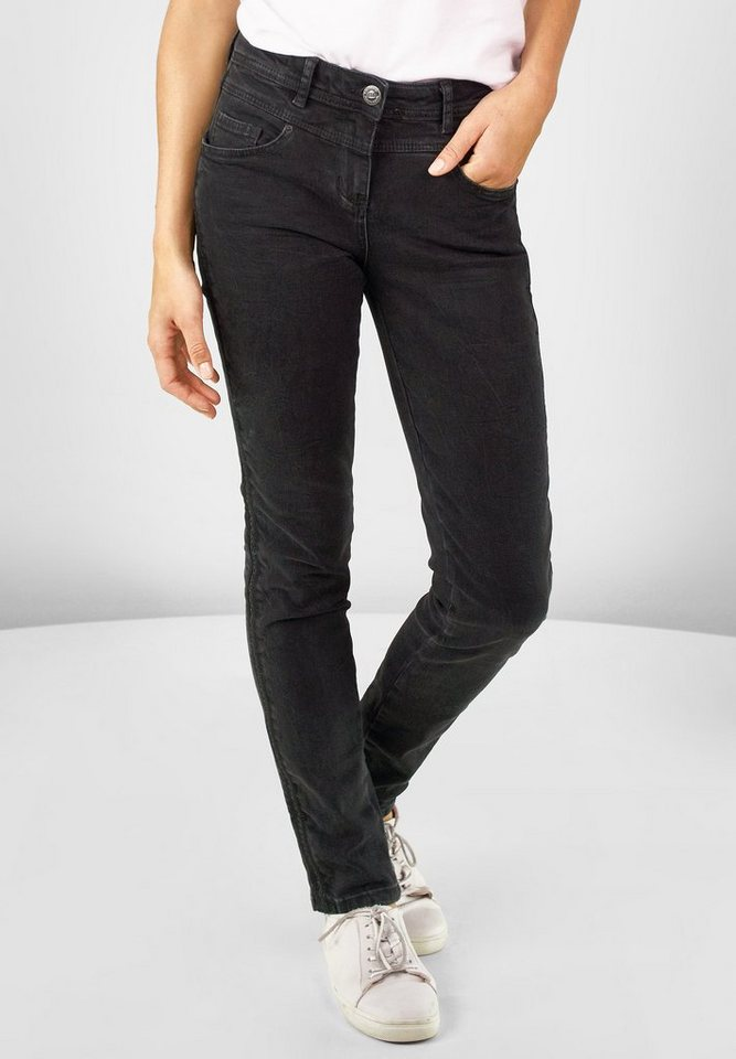 CECIL Denim Toronto in black used wash