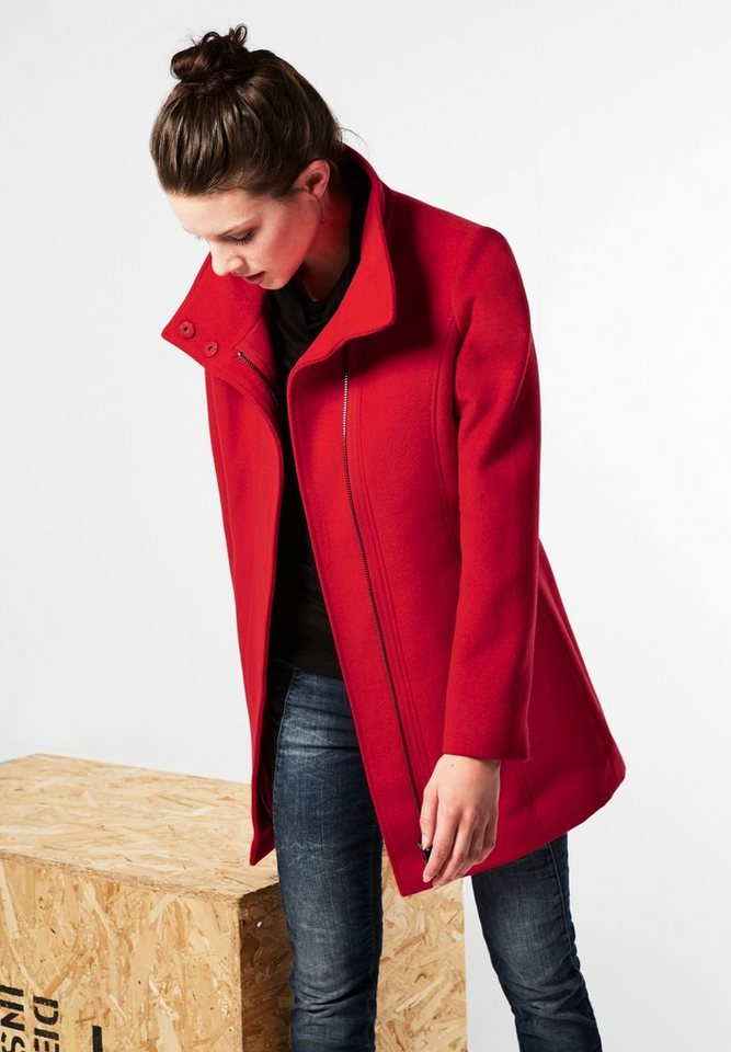 Street One Mantel mit Zipper Giselle in pure red
