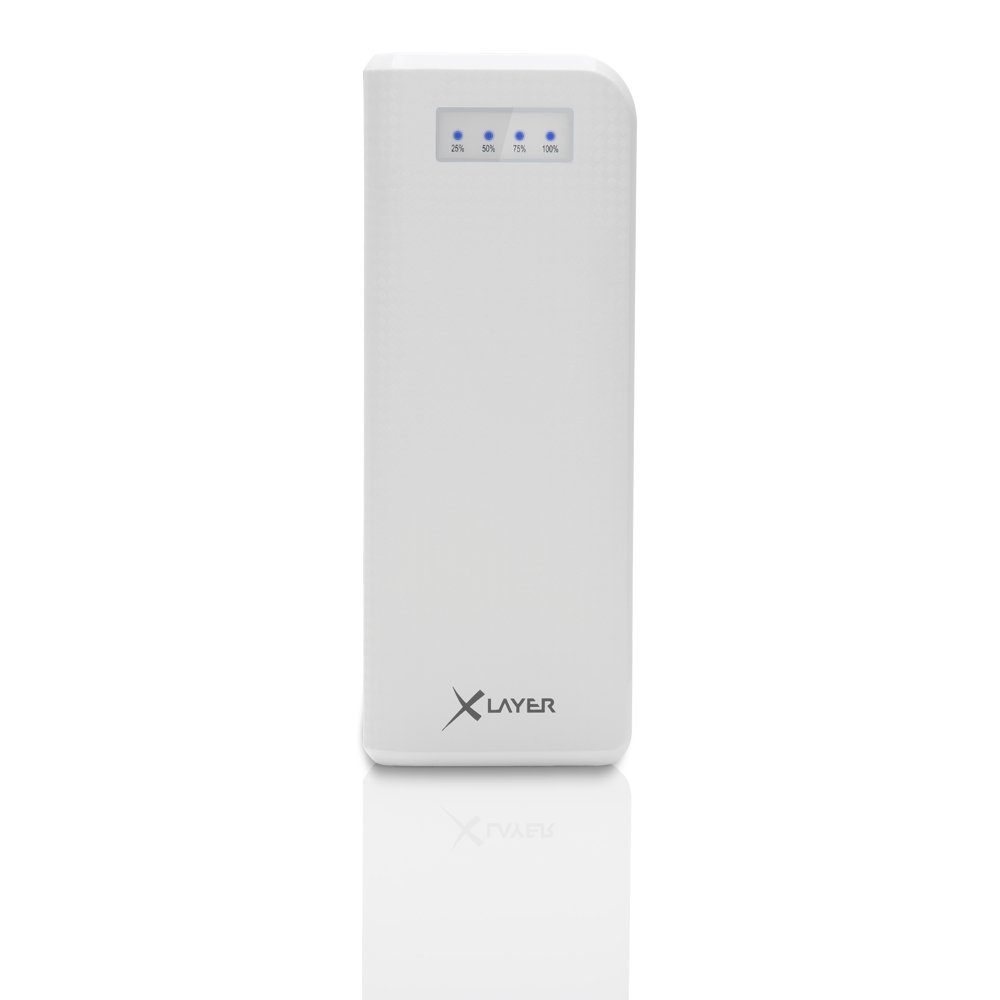XLayer Zusatzakku »Powerbank Carbon White 15000mAh Smartphones/Tablet«
