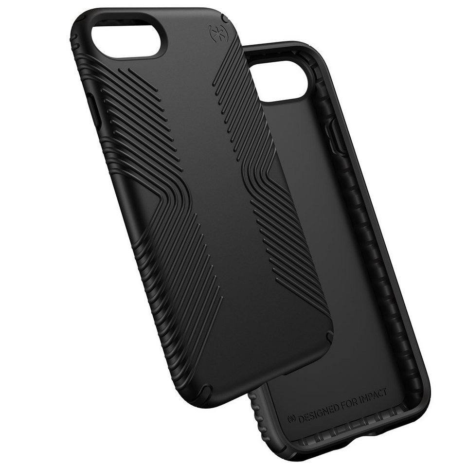 Speck HardCase »PRESIDIO GRIP iPhone (7) BLACK/BLACK« in schwarz