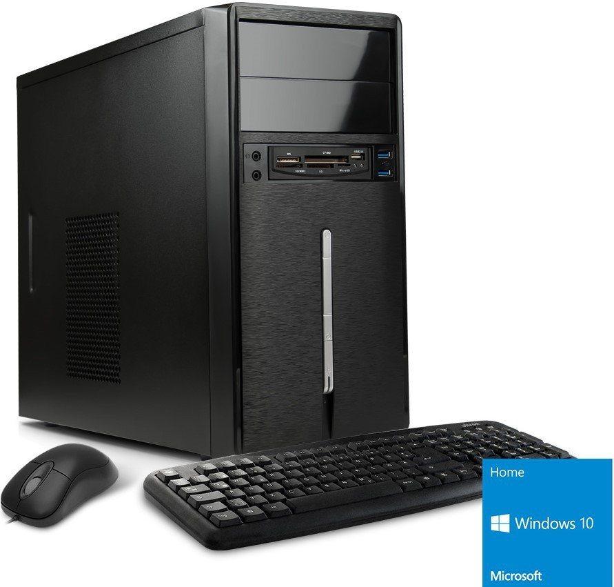 VCM Multimedia PC / AMD A4 6300 (2x 3,7 GHz) / 4 GB RAM / Windows 10 in schwarz