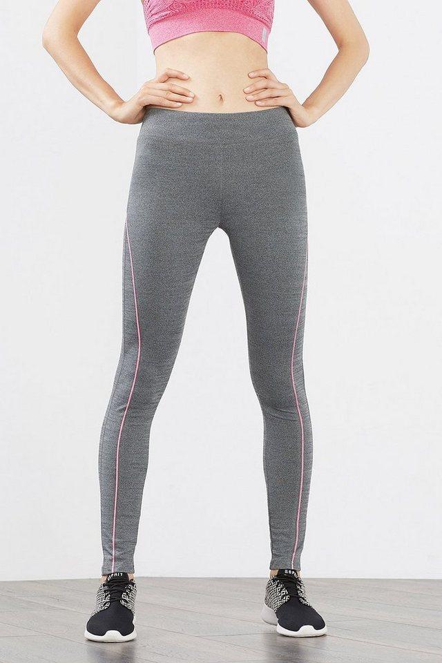 ESPRIT Funktions Sport Leggings mit Zippfach in DARK GREY