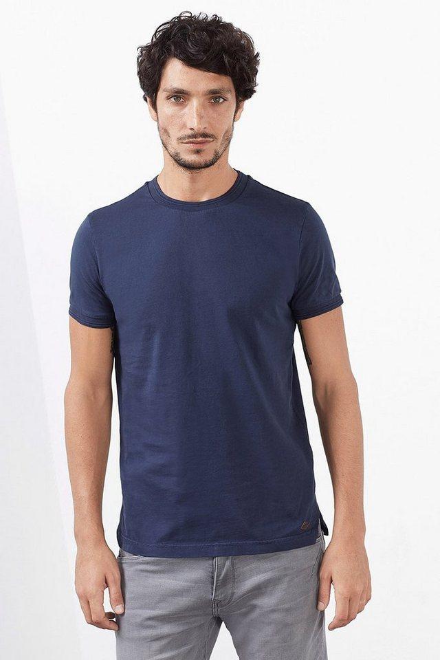 ESPRIT CASUAL Heavy Jersey T-Shirt, 100% Baumwolle in NAVY