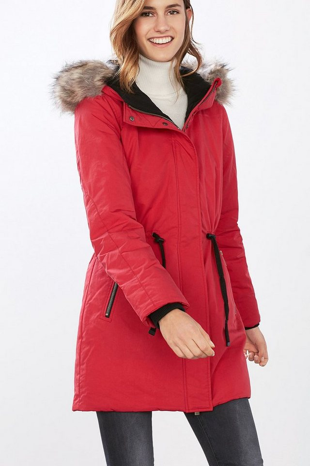 EDC Extra warmer Arctic Parka in RED