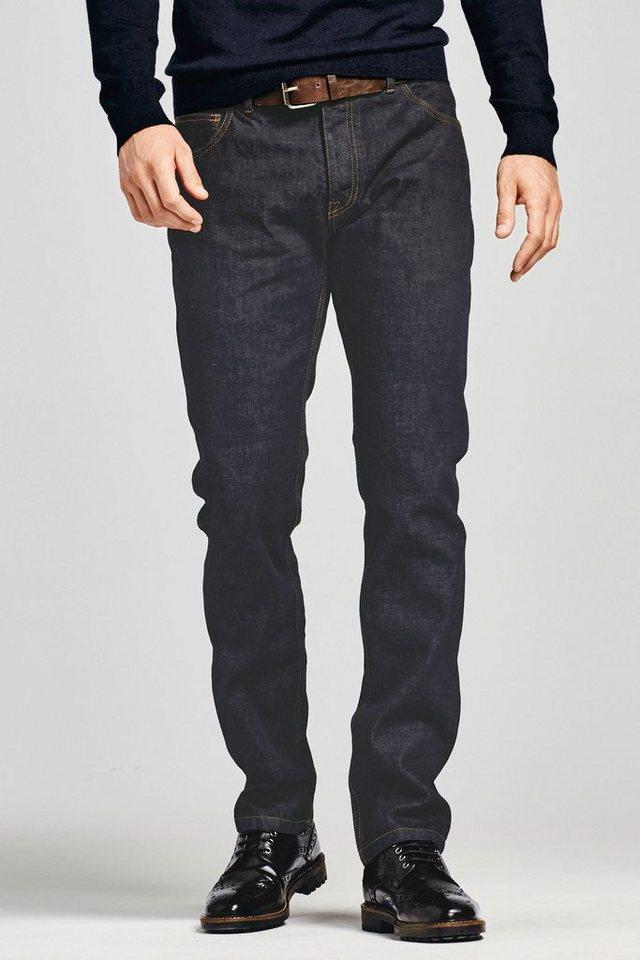 Next Raw Denim Straight-Fit Jeans mit Gürtel 2 teilig in Raw Straight Fit