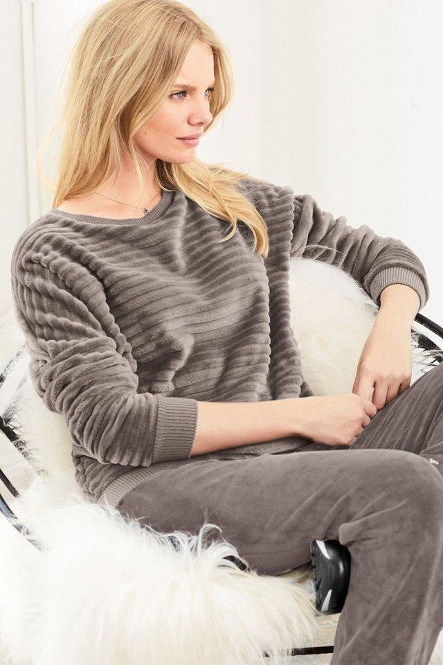 Next Strukturierter Fleecepullover in Mink