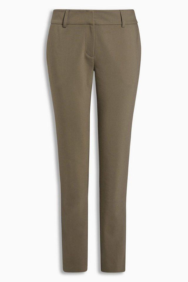 Next Hose mit seitlichem Streifen in Khaki