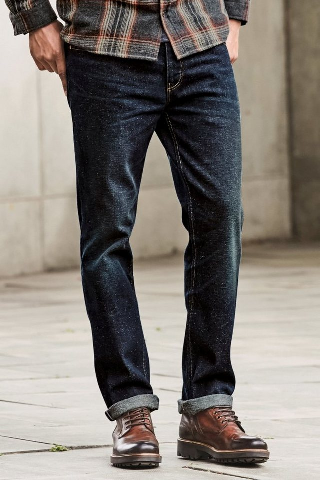 Next Slim-Fit Jeans in Noppenoptik in Blue Dark Wash Slim Fit