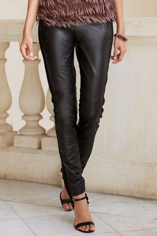 Next Hose aus Leder in Black