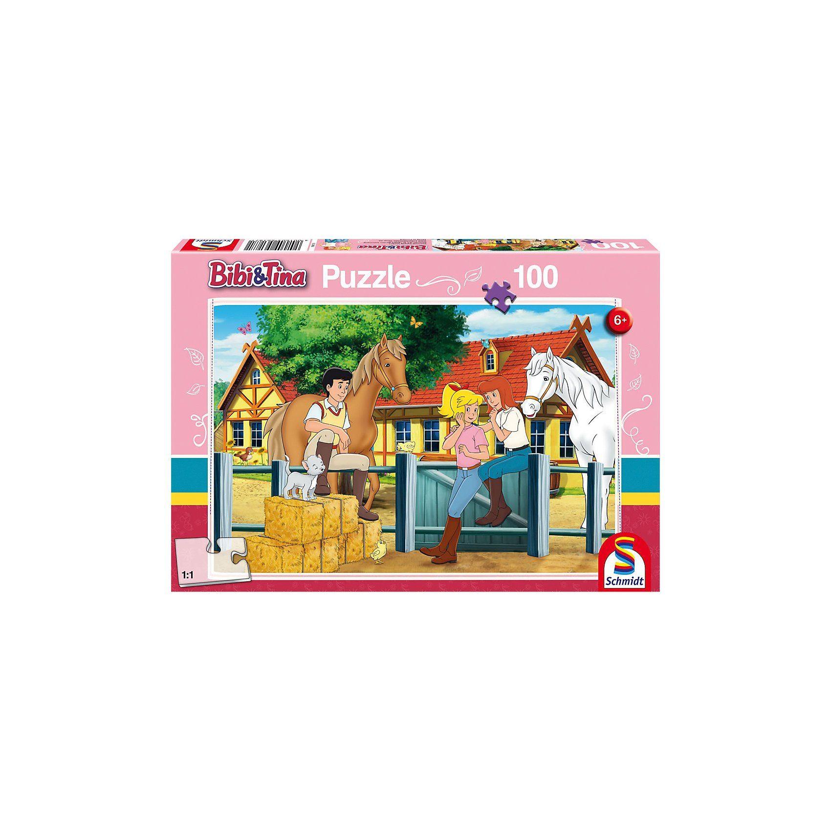 Schmidt Spiele Puzzle 100 Teile Bibi & Tina, Auf dem Martinshof