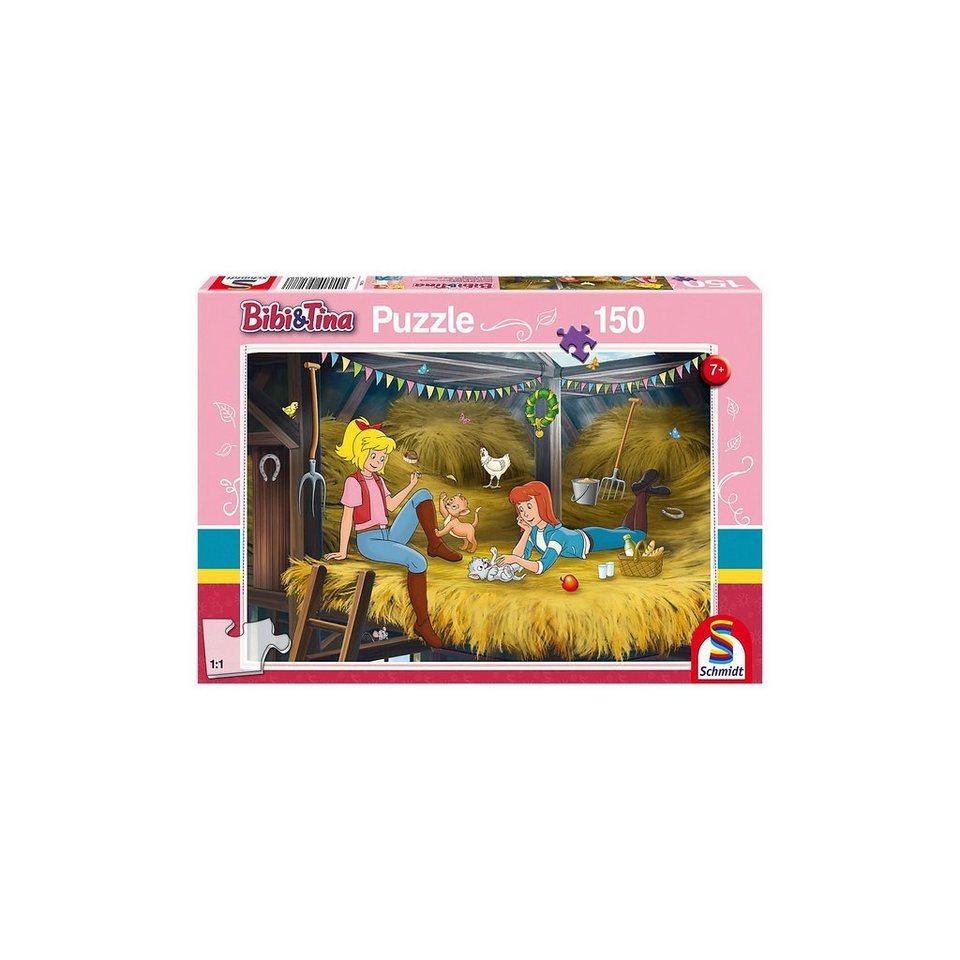 Schmidt Spiele Puzzle 150 Teile Bibi & Tina, Auf dem Heuboden online kaufen