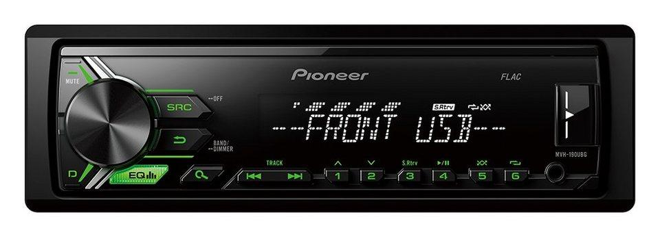 PIONEER 1-DIN Autoradio »MVH-190UBG« in schwarz
