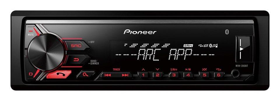 PIONEER 1-DIN Autoradio »MVH-390BT« in schwarz